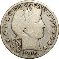 1906 D Barber Half Dollar - G (Good)