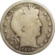 1906 O Barber Half Dollar - G (Good)