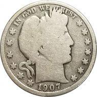 1907 Barber Half Dollar - G (Good)