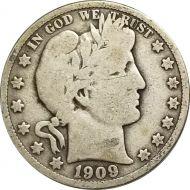1909 Barber Half Dollar - VG (Very Good)