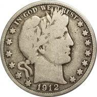 1912 Barber Half Dollar - VG (Very Good)