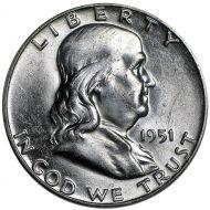 1951 D Franklin Half Dollar - Brilliant Uncirculated