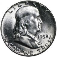 1952 D Franklin Half Dollar - Brilliant Uncirculated