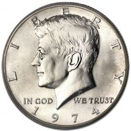 1974 Kennedy Half Dollar - Brilliant Uncirculated