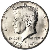 1976 D Kennedy Half Dollar - Brilliant Uncirculated