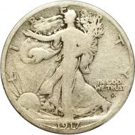 1917 S Walking Liberty Half Dollar Obverse - F (Fine)