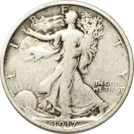 1917 S Walking Liberty Half Dollar Reverse - F (Fine)