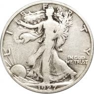1927 S Walking Liberty Half Dollar - F (Fine)