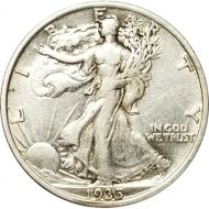 1935 Walking Liberty Half Dollar - XF (Extra Fine)
