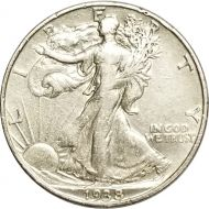1938 Walking Liberty Half Dollar - XF (Extra Fine)