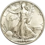 1939 Walking Liberty Half Dollar - XF (Extra Fine)