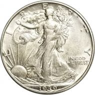 1939 D Walking Liberty Half Dollar - AU (Almost Uncirculated)