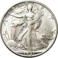 1941 D Walking Liberty Half Dollar - AU (Almost Uncirculated)
