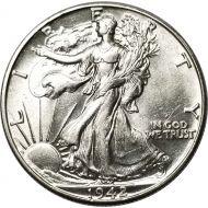 1942 Walking Liberty Half Dollar - AU (Almost Uncirculated)