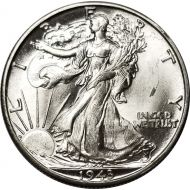 1943 D Walking Liberty Half Dollar - BU (Brilliant Uncirculated)