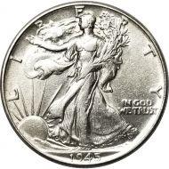 1945 Walking Liberty Half Dollar - AU (Almost Uncirculated)