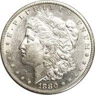 1880 S Morgan Dollar -  (AU) Almost Uncirculated
