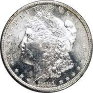 1881 S Morgan Dollar -  (AU) Almost Uncirculated