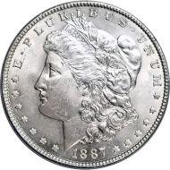 1887 Morgan Dollar -  (AU) Almost Uncirculated