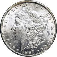 1887 O Morgan Dollar -  (AU) Almost Uncirculated