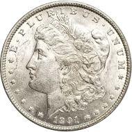1891 Morgan Dollar -  (AU) Almost Uncirculated