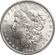 1884 Morgan Dollar - (BU) Brilliant Uncirculated