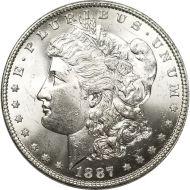 1887 Morgan Dollar - (BU) Brilliant Uncirculated