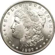 1897 Morgan Dollar - (BU) Brilliant Uncirculated