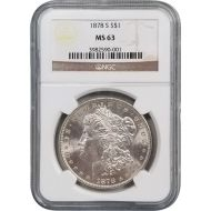 1878 S Morgan Dollar - NGC MS 63