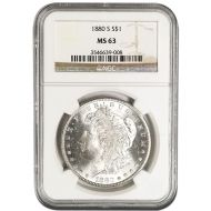 1880 S Morgan Dollar - NGC MS 63