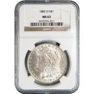1882 O Morgan Dollar -NGC MS 63