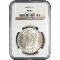 1882 O Morgan Dollar -NGC MS 63