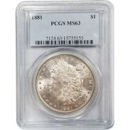 1881 Morgan Dollar - PCGS MS 63