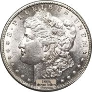 1890's Morgan Dollars - AU Cleaned (Almost Uncirculated)