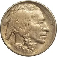 1913 D Buffalo Nickel Type 1 - AU (Almost Uncirculated)
