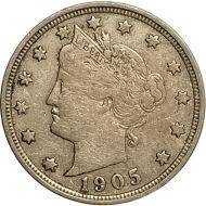 1905 Liberty Nickel - VF (Very Fine)