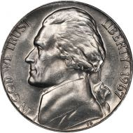 1967 Jefferson Nickel - Brilliant Uncirculated