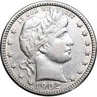 1902 O Barber Quarter - VF (Very Fine)