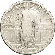 1917 D Type 1 Standing Liberty Quarter - VG (Very Good)