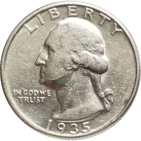 1935 Washington Quarter - Very Fine