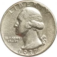1937 Washington Quarter - Extra Fine