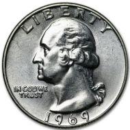 1969 Washington Quarter - Brilliant Uncirculated