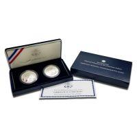2001 American Buffalo Silver 2 pc Dollar Set - Proof & BU