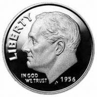 1956 Proof Roosevelt Dime