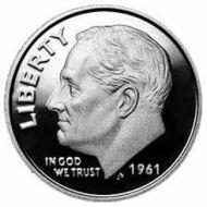 1961 Proof Roosevelt Dime