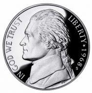 1968 Proof Jefferson Nickel