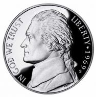 1969 Proof Jefferson Nickel