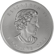 2014 1 oz Silver Canadian Maple Leaf
