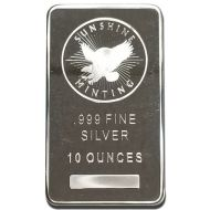 10 oz Silver Generic Bar - Varying Designs