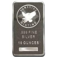 10 oz Silver Generic Bar - Varying Designs